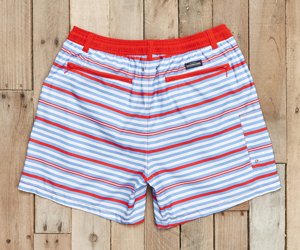 Red Dockside Swim Trunks