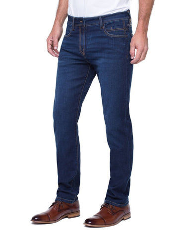 Kingston Modern Slim Straight Stretch Denim- Rosecrans Dark