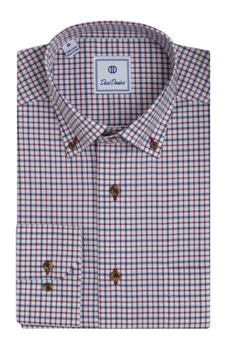 Open Ground Twill Check Sport Shirt