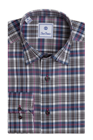 Classic 3x3 Twill Plaid Sport Shirt
