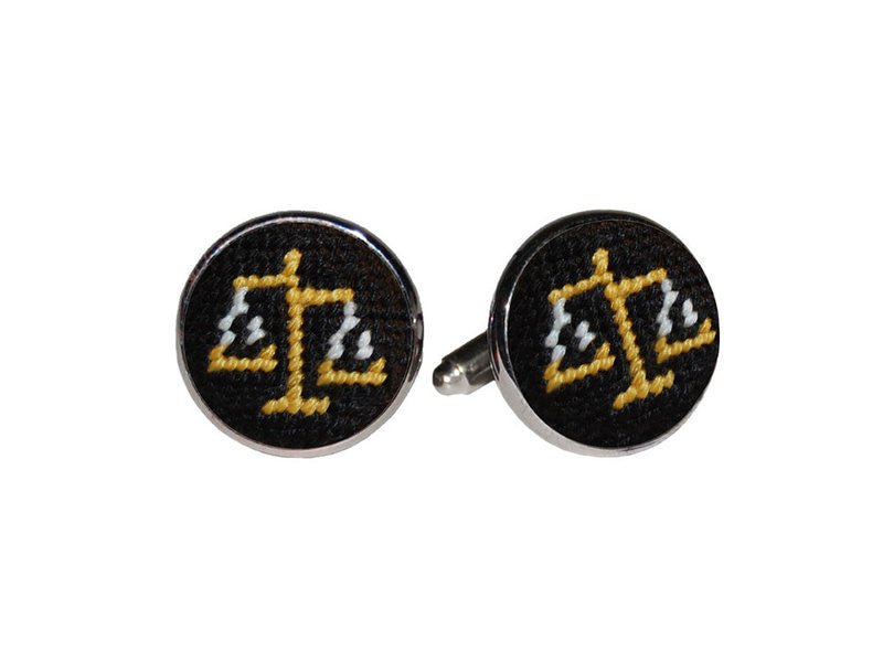 Scales of Justice Needlepoint Cufflinks