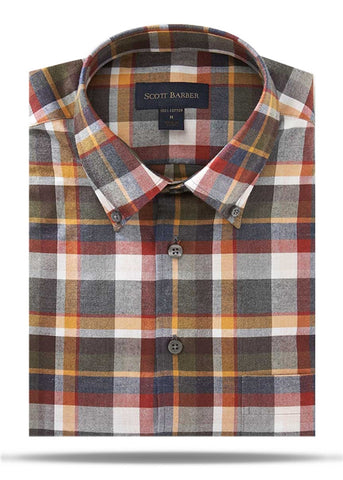 Multi Colored Autumn Plaid Sport Shirt