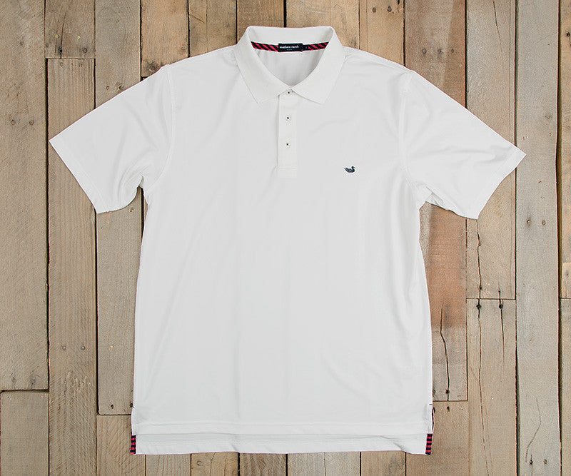 Bermuda Performance Polo - White
