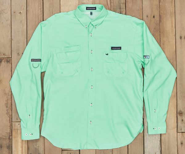 Harbor Cay Fishing Shirt - Bimini Green