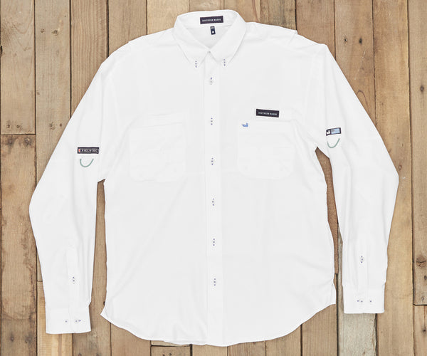 Harbor Cay Fishing Shirt - White