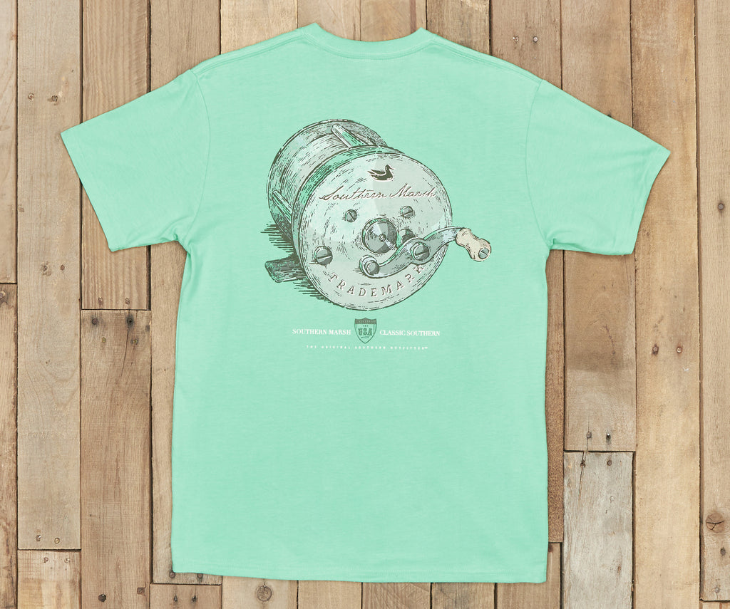 Southern Class Fishing Reel Short Sleeve Pocket Tee