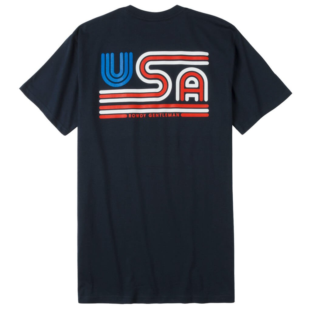 TRICOLOR USA SHORT SLEEVE POCKET TEE