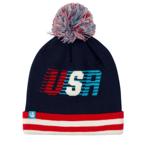 USA Streaking Beanie Hat