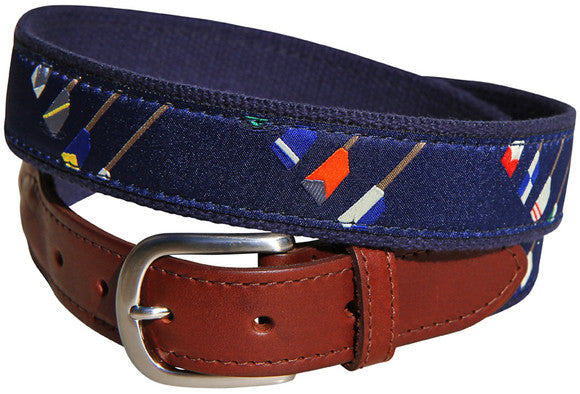 Crew Blades Leather Tab Belt