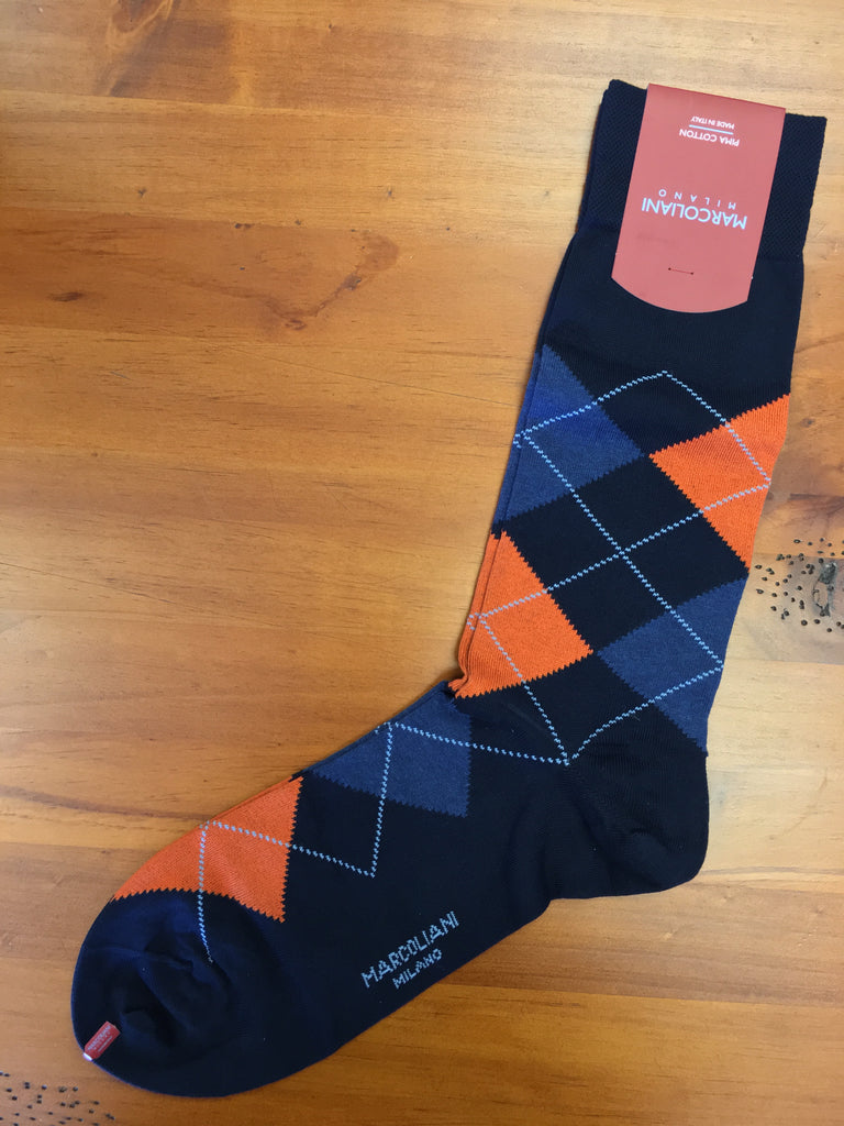 Argyle Denim Orange