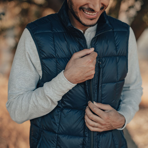 Packable Down Vest Navy