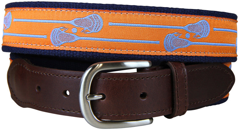 Lacrosse Sticks Leather Tab Belt