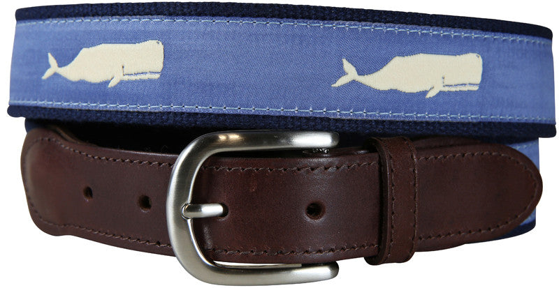 Moby Whale Leather Tab Belt
