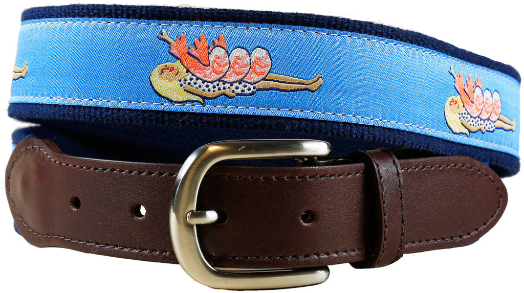 Shrimp on the Barbie Leather Tab Belt