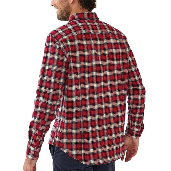 Washed Woodsman Heathered Plaid - Tibetan Red/Navy