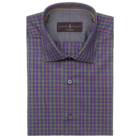 Crespi III Purple & Green Plaid