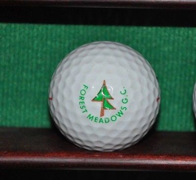 Forest Meadows Golf Course logo golf ball. Arnold California Sierra Foothills