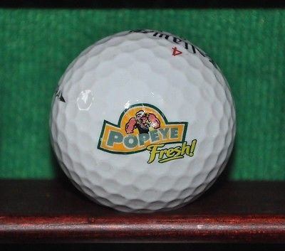 Popeye the Sailor Man Spinach logo golf ball. Callaway.