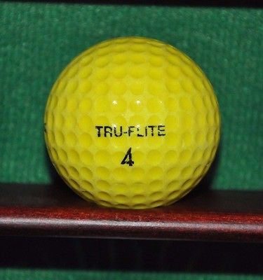 Vintage Spalding Tru Flite Golf Ball Yellow