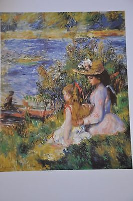 "Young Women at the Water's Edge by Pierre Auguste Renoir Fine Art Print 17"" x 11"