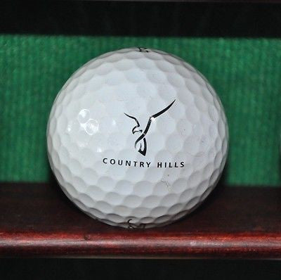 Country Hills Golf Club Calgary Alberta Logo Golf Ball. Titleist Pro V1