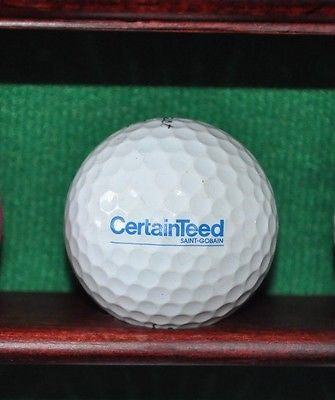 CertainTeed Corporation logo golf ball. Titleist Pro V1