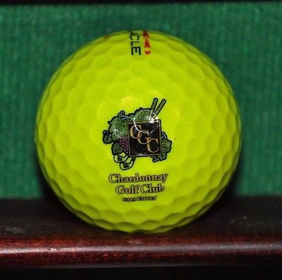 Chardonnay Golf Club Napa California Logo Golf Ball Yellow