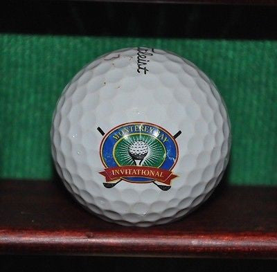 Monterey Bay Invitational at Pebble Beach logo golf ball. Titleist Pro V1