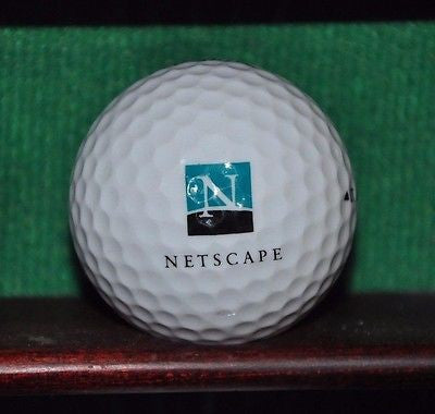 Netscape Web Browser logo golf ball. Titleist.