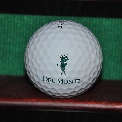 Del Monte Country Club at Pebble Beach logo golf ball. Titleist Pro V1 Excellent