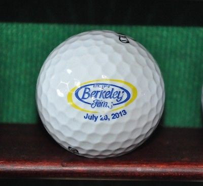 Berkeley Farms Milk logo golf ball. Callaway.