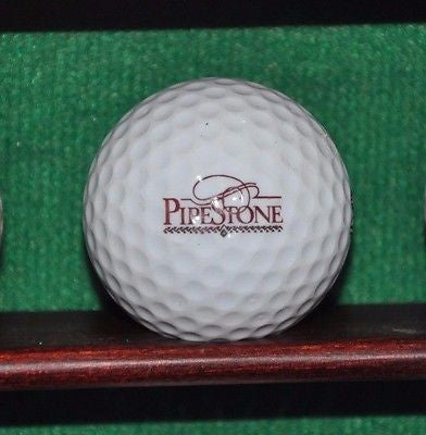 Pipestone Golf and Country Club Dayton Ohio logo Golf Ball. Acushnet