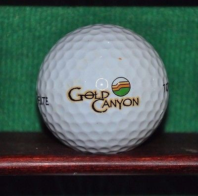 Gold Canyon Golf Resort Arizona logo golf ball.