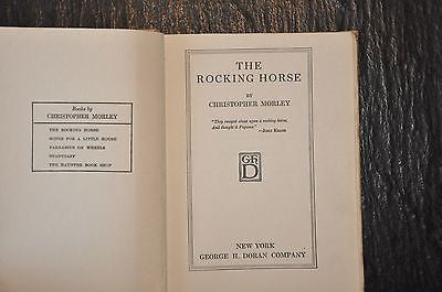 The Rocking Horse by Christopher Morley First Edition 1919