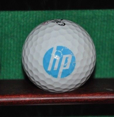 Hewlett Packard Corporation HP logo golf ball. Callaway.