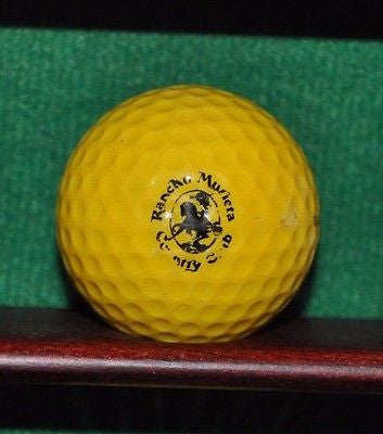 Vintage Rancho Murietta Country Club Logo golf ball. Golden Ram Laser