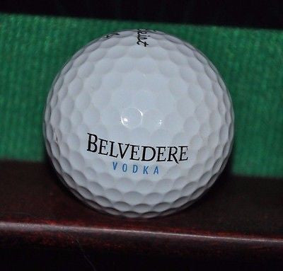 Belvedere Vodka logo golf ball. Titleist Pro V1