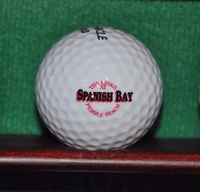 Vintage 1980s Links at Spanish Bay Pebble Beach logo Ball. Excellent Condition.