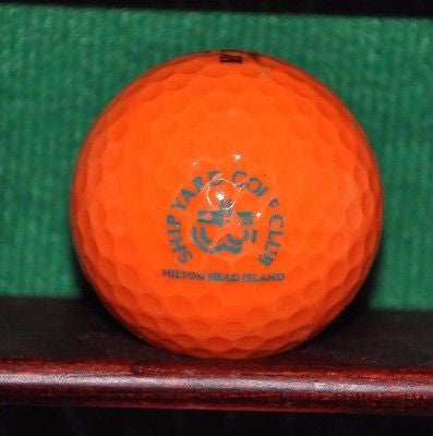Vintage Shipyard Golf Club Hilton Head Island logo golf ball. Orange. Dunlop DDH