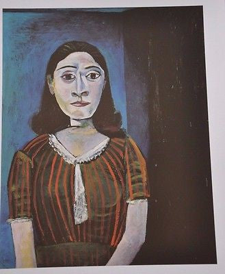 "Portrait of Dora Marr by Pablo Picasso Fine Art Print 17"" x 11"""