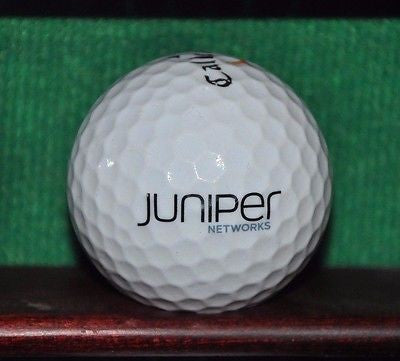 Juniper Networks  logo golf ball. Callaway