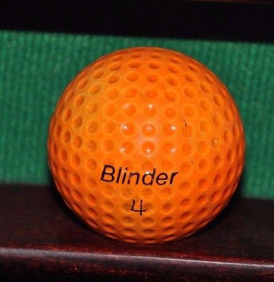Vintage Blinder golf ball. Orange.