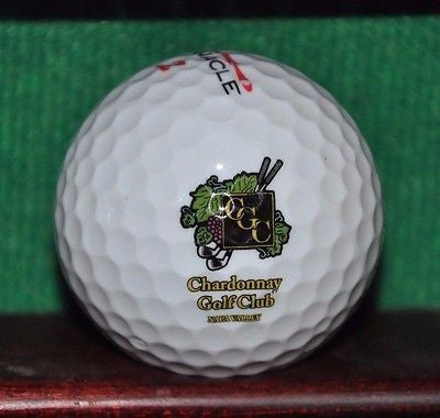 Chardonnay Golf Club Napa California Logo Golf Ball