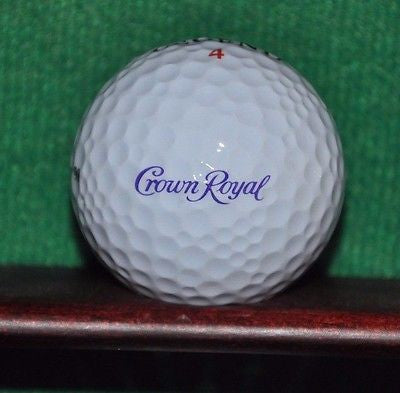 Crown Royal Whisky logo golf ball. Hogan