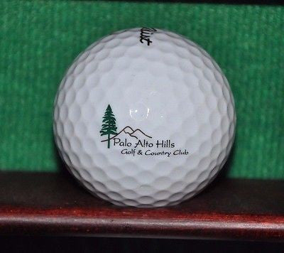 Palo Alto Hills Golf and Country Club logo golf ball. Titleist