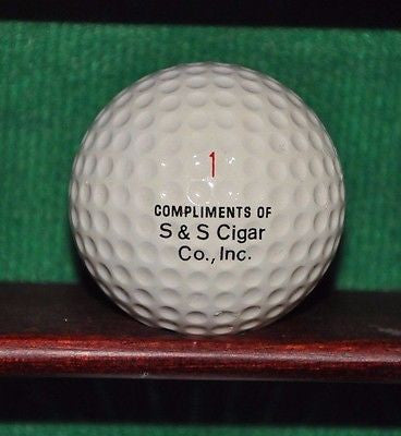Vintage S & S Cigar Company logo golf ball. Excellent Condition.