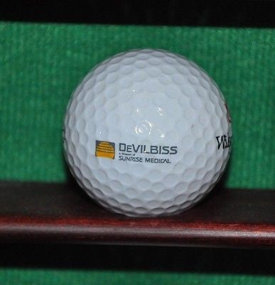 DevilBiss Sunrise Medical logo golf ball. Excellent Condition