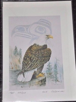 "Large Print Card by Sue Coleman called The Eagle measuring 9x6"" Bald Eagle"