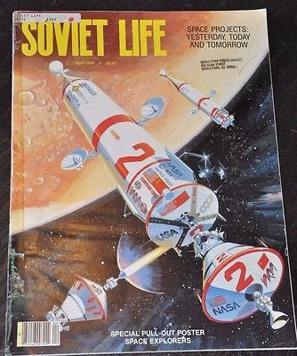 Soviet Life Magazine 1988 Space Projects Yesterday Today and Tomorrow