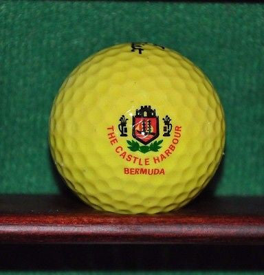 Vintage Castle Harbour Bermuda Golf ball. Titleist Yellow.